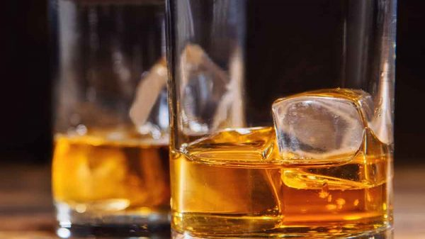 two glasses of whiskey