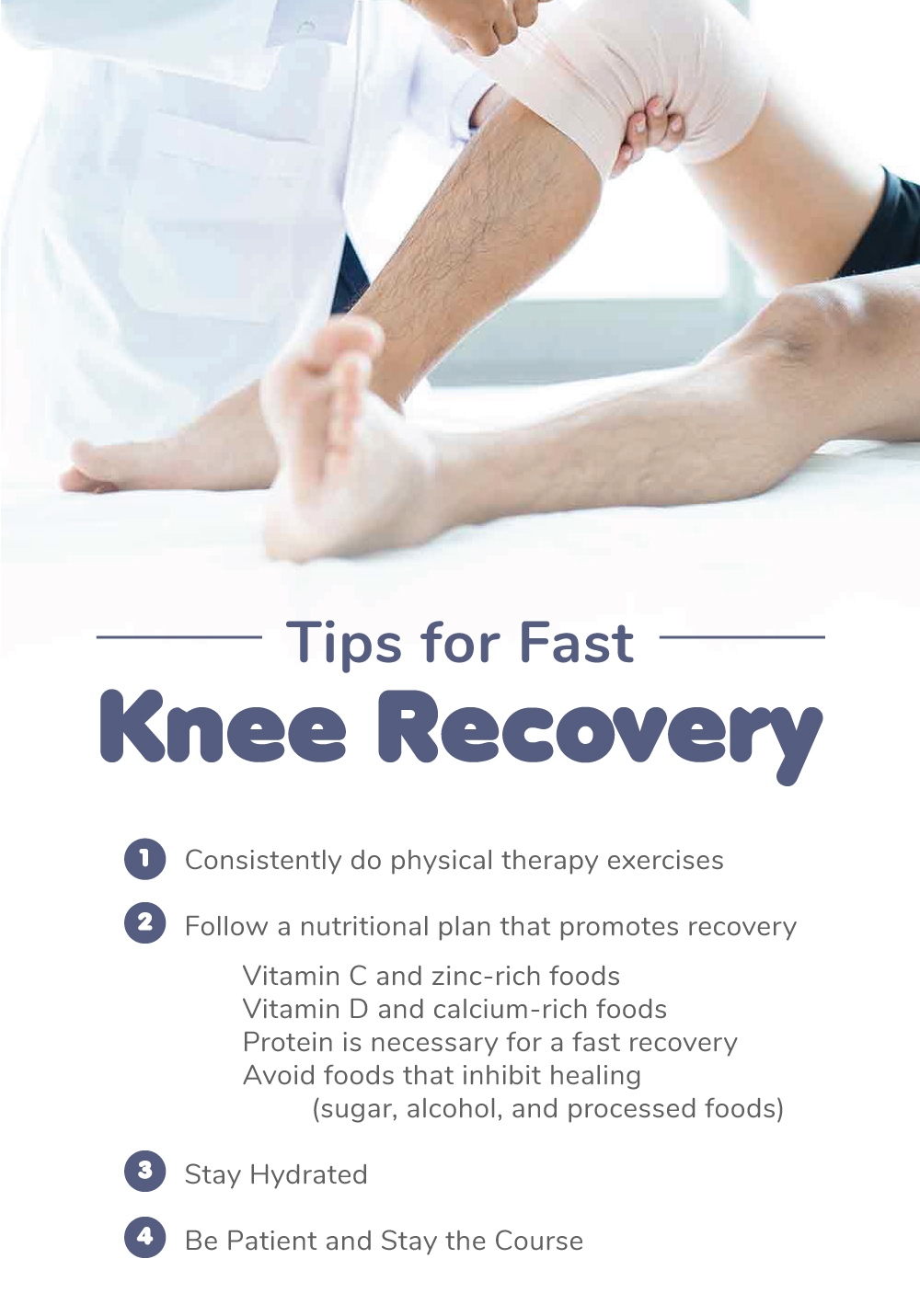 Tips for fast knee recovery