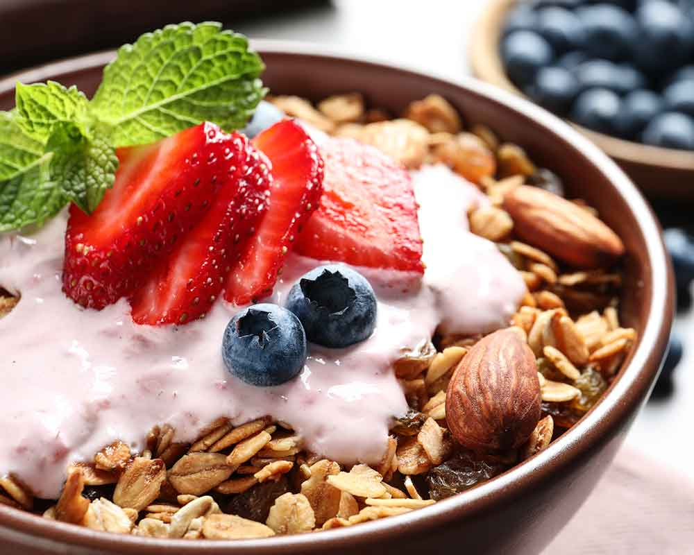 granola oatmeal bowl
