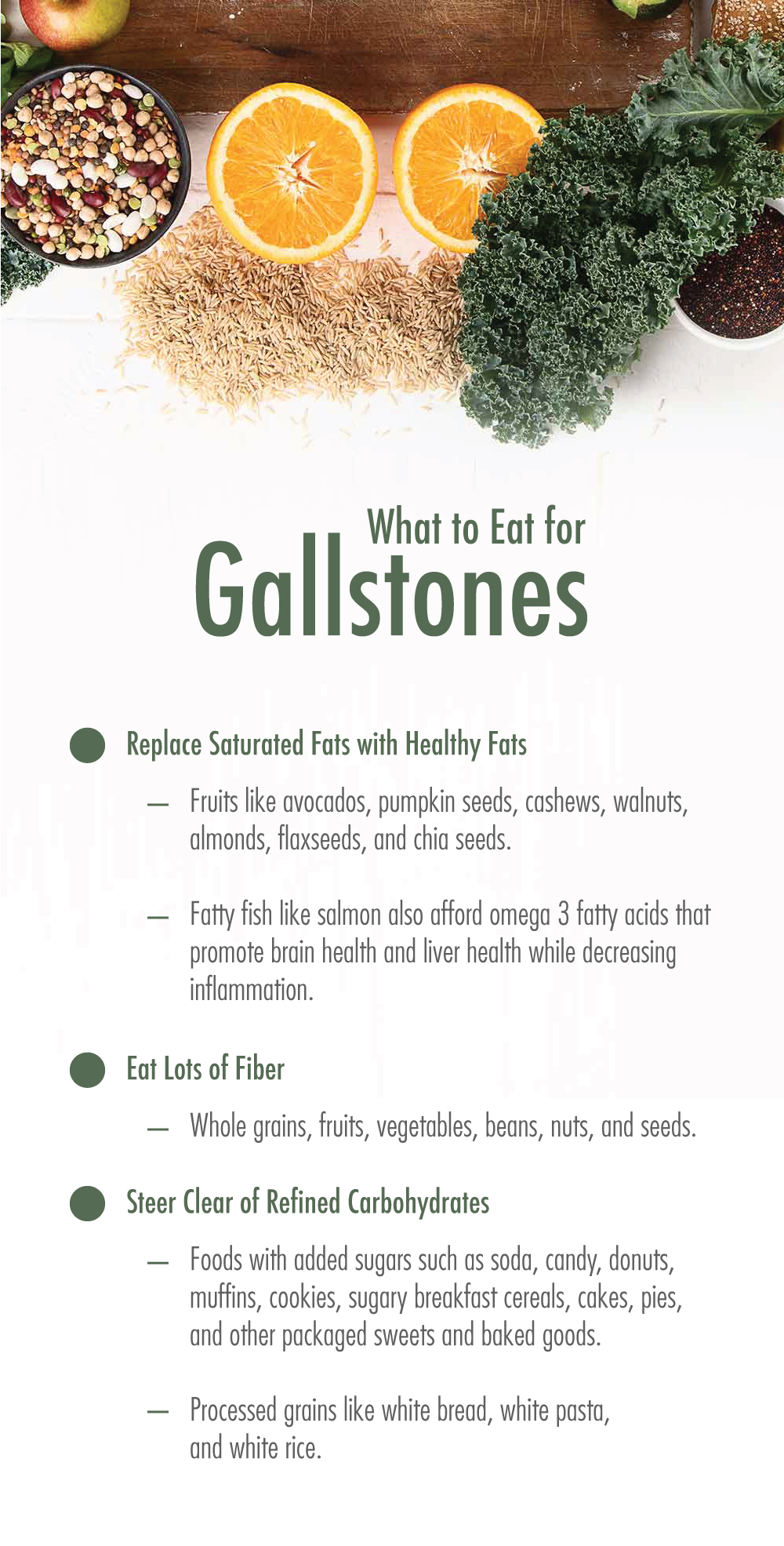 Gallstone Diet: What to Eat for Gallstones