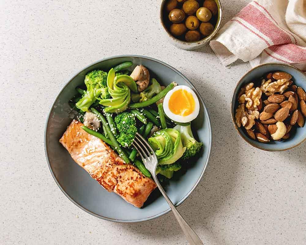 salmon avocado green beans