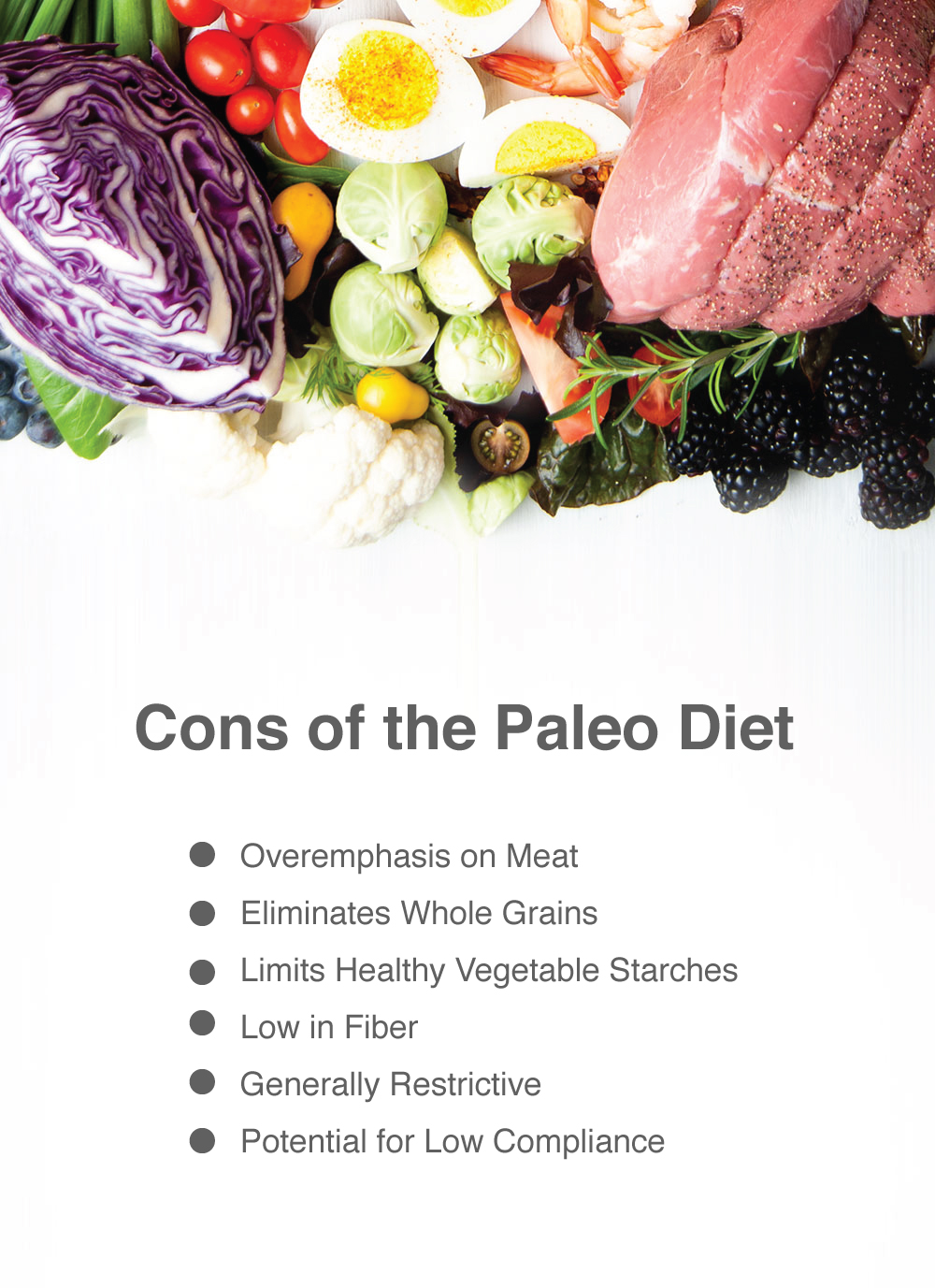 Cons of the Paleo Diet