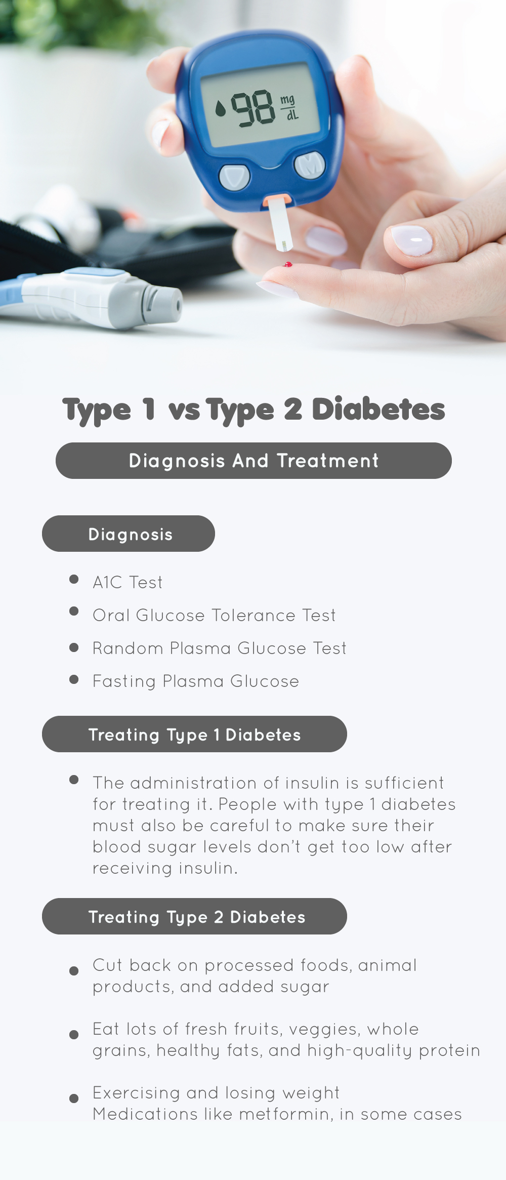 Type 1 and Type 2 Diabetes: Diagnosis And Treatment