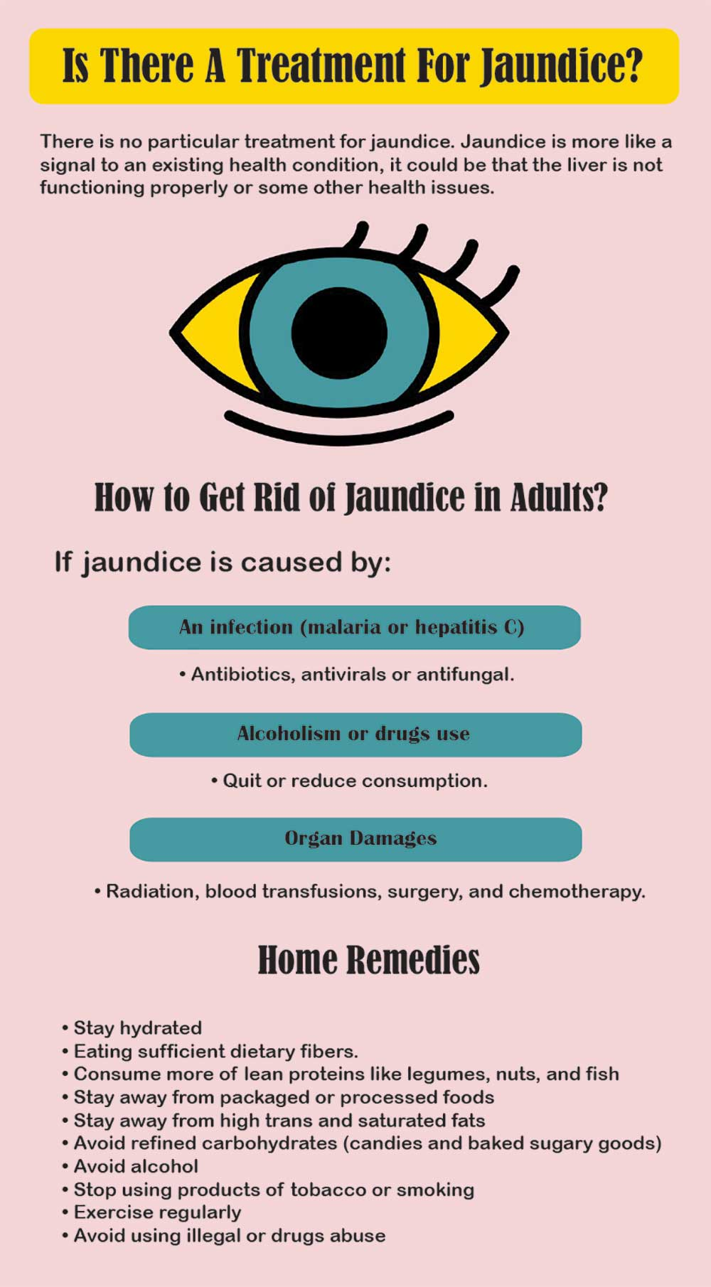 how to get rid of jaundice in adults
