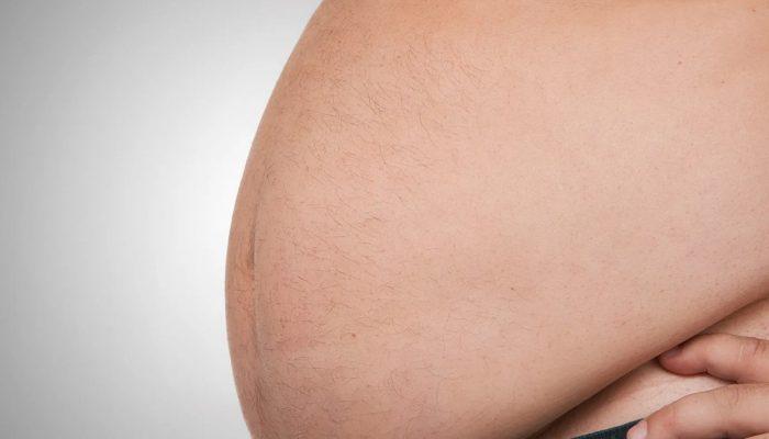 Man with big tummy