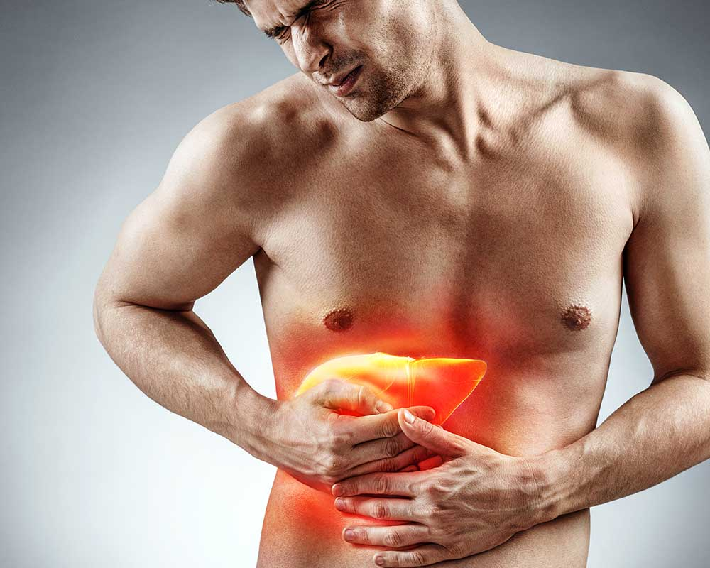 Man with liver inflammation