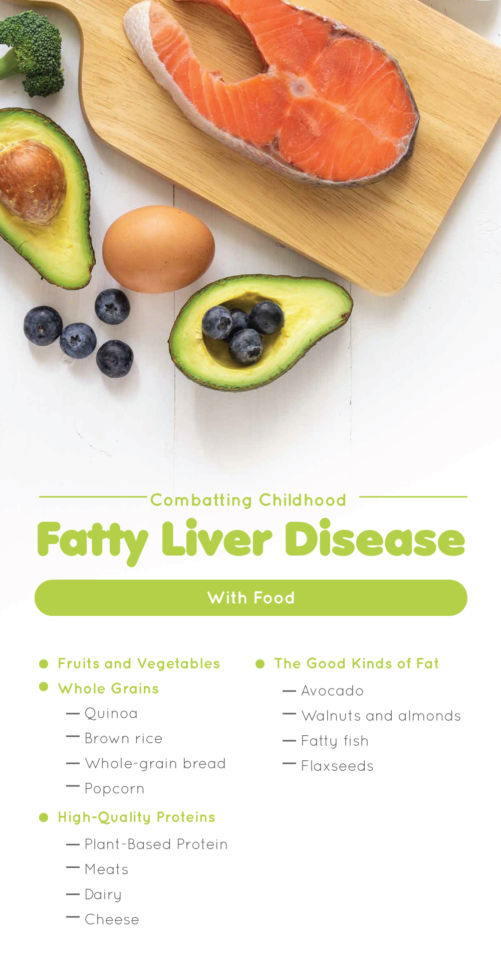 Combatting Childhood Fatty Liver Disease With Food
