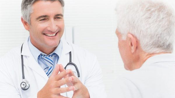 Doctor and an elderly patient