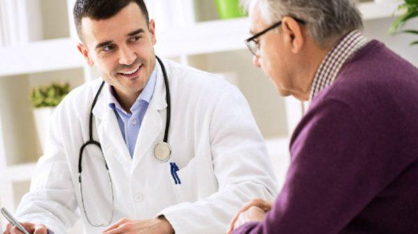 doctor and an elder patient