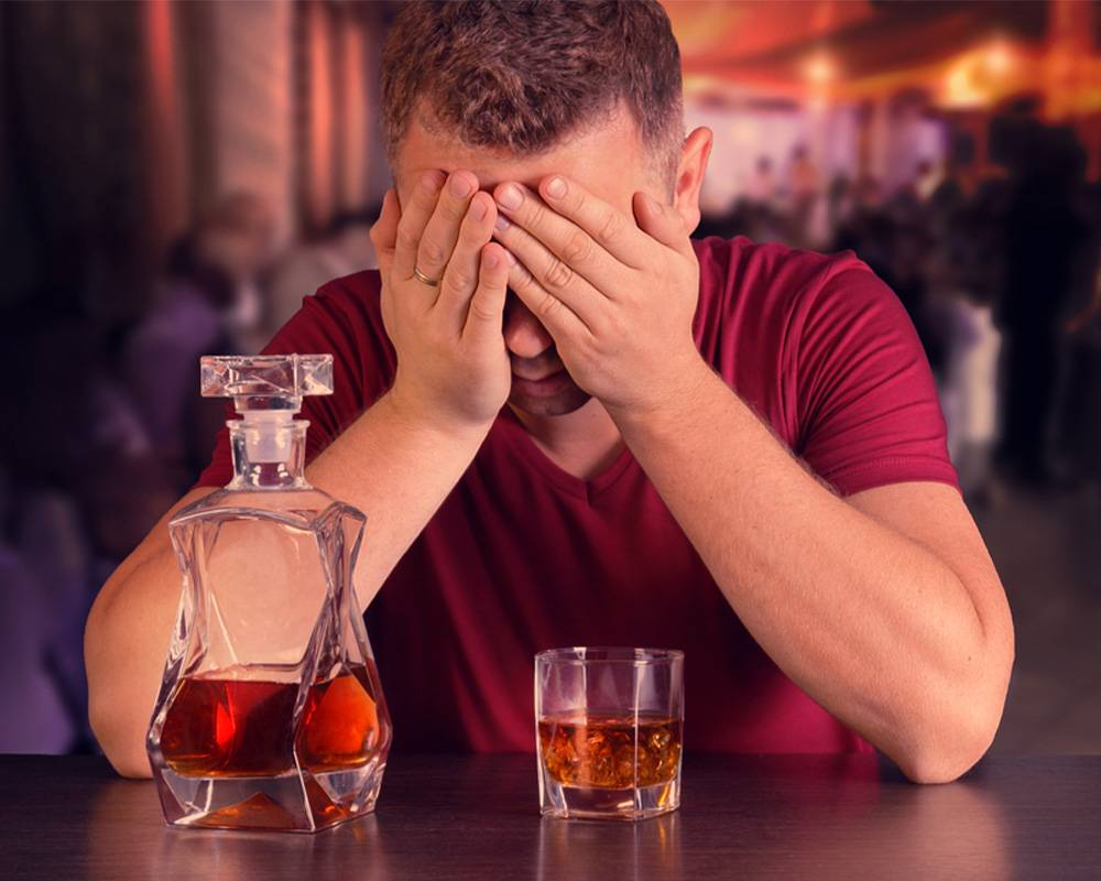 man suffering from alcoholism