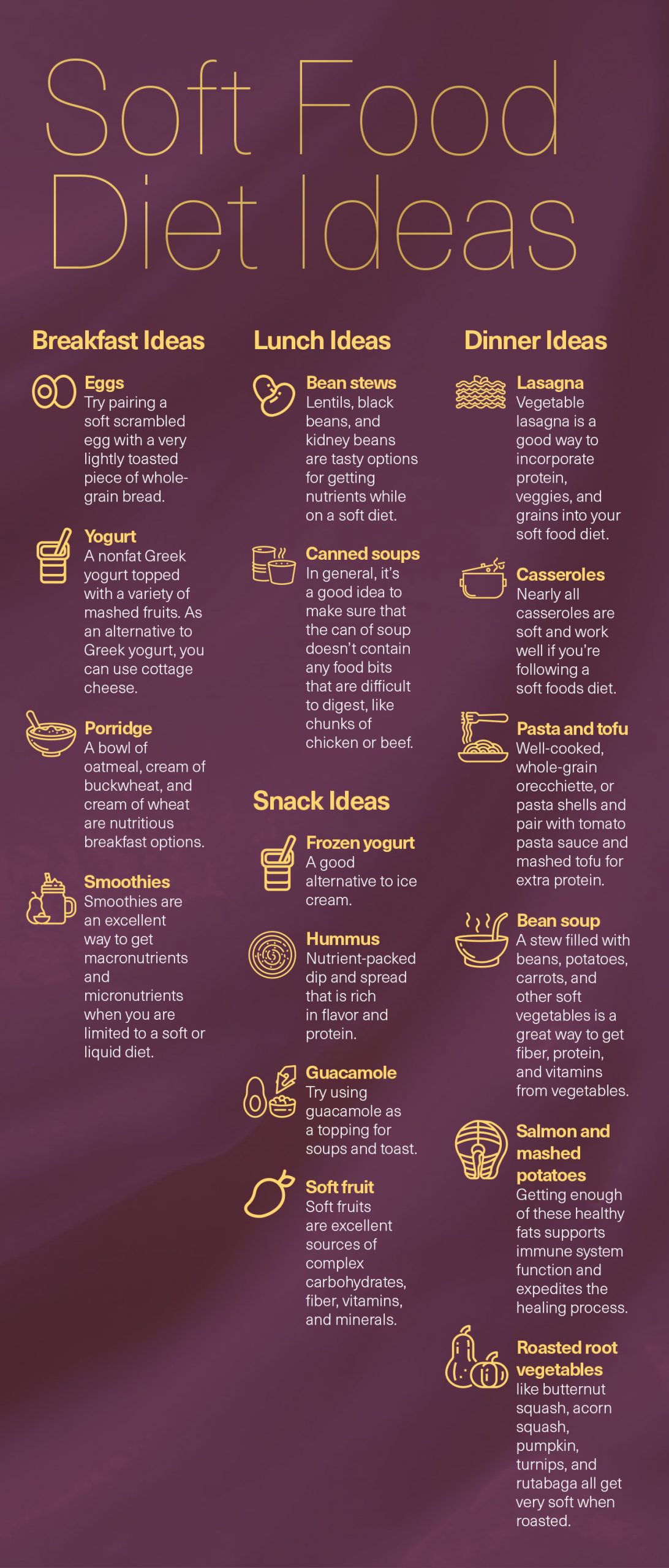 Soft Food Diet Ideas