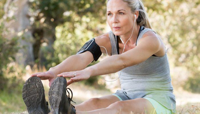 Girl doing yoga outdoors